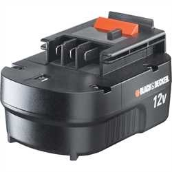 Black and Decker - 12 V SlidePackakku NiCD 12 Ah - A12