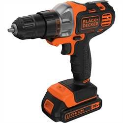 Black and Decker - 18 V Multievo multitykalu akkuporakoneen tystpll ja kahdella akulla - MT218KB