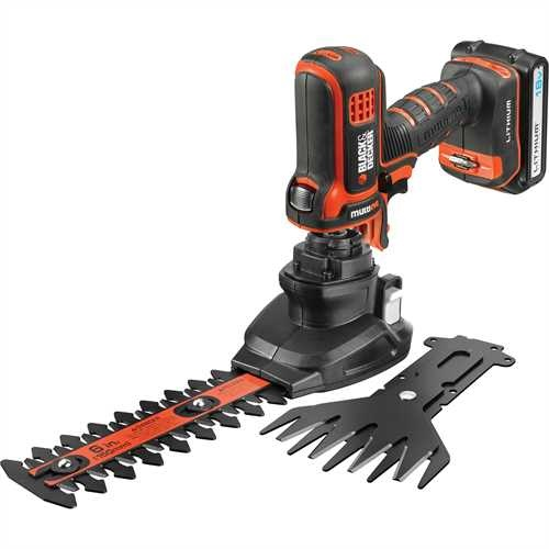 Black and Decker - 18 V LiIon Multievo multitykalu ruohosakset ja pensasleikkuri tystpill - MT18SSK